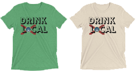 Drink Local Shirt with Florida Flag